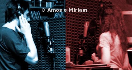 Amos e Miriam durante la registrazione di Ancora un giorno