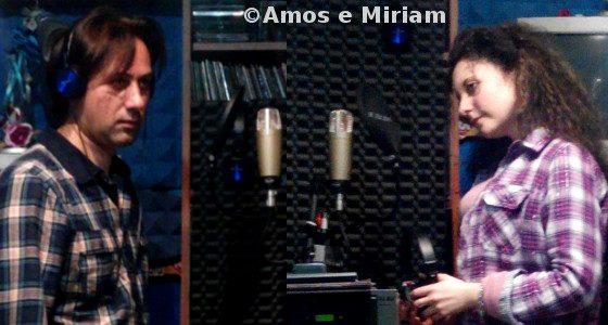 Amos e Miriam durante la registrazione Oltre mille avversità
