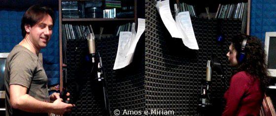 Amos e Miriam durante la registrazione di Questo folle folle amore