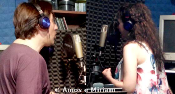 Amos e Miriam durante la registrazione di Ti odierei ma non posso