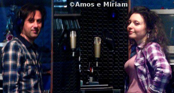 Amos e Miriam durante la registrazione di Vivo