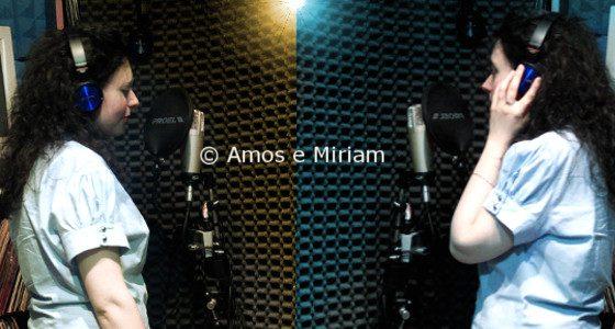 Miriam Scalici durante la registrazione Il Sole e la Luna